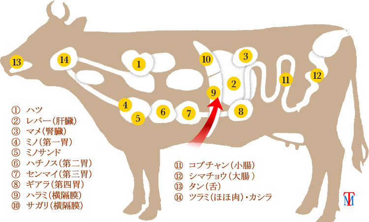 牛ホルモンハラミ通販