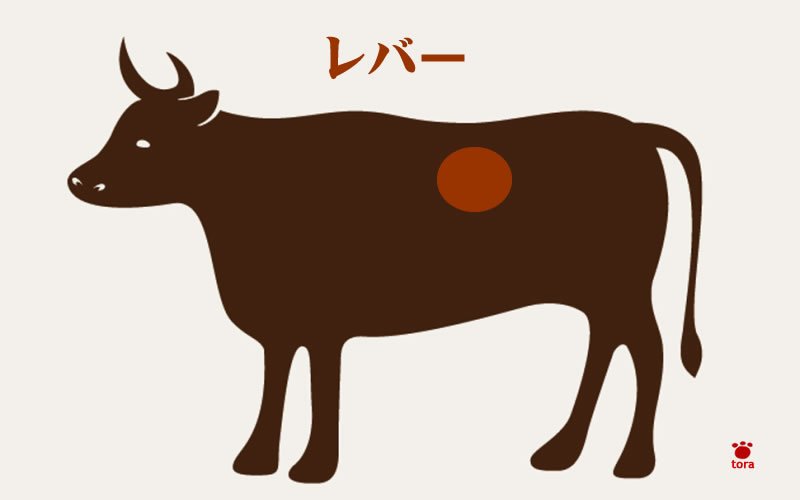 牛のレバー